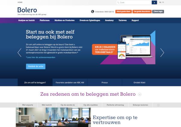 bolero belgische brokers voor beleggen
